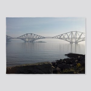 Forth Rail Bridge 5'x7'Area Rug